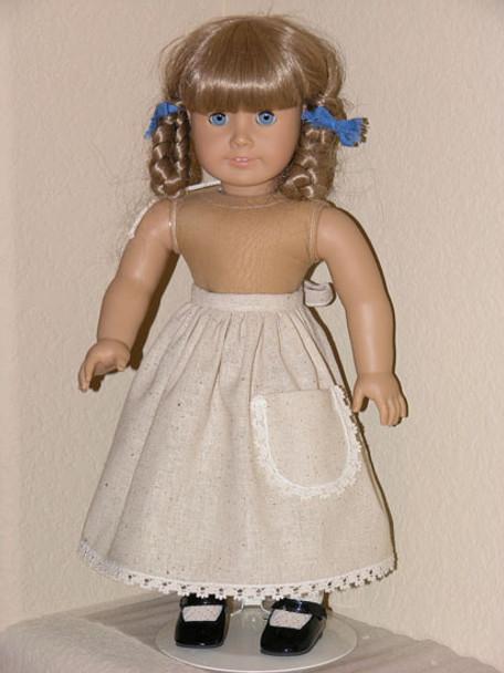 Muslin Osnaburg APRON fits 18 inch American Girl Doll