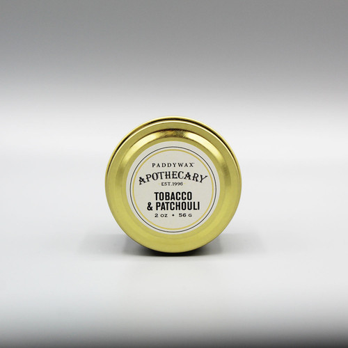 Paddywax Apothecary Tobacco & Patchouli Travel Tin Candle