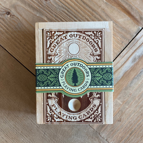 Great Outdoors Playing Cards In Wood Box