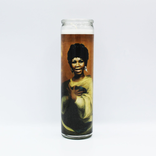 Aretha Franklin Prayer Candle