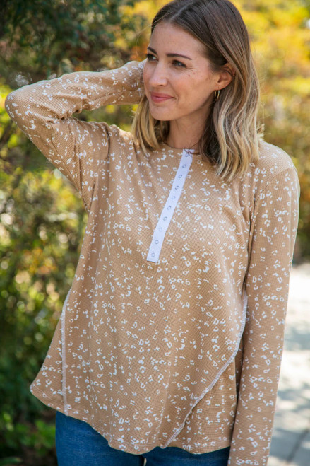 Emily Ditzy Leopard Thermal Top