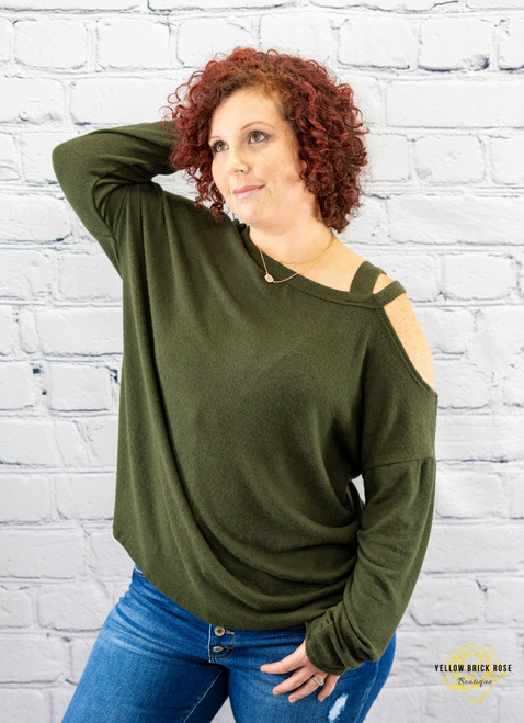 Sweet and Sassy Cut Out Slouchy Top