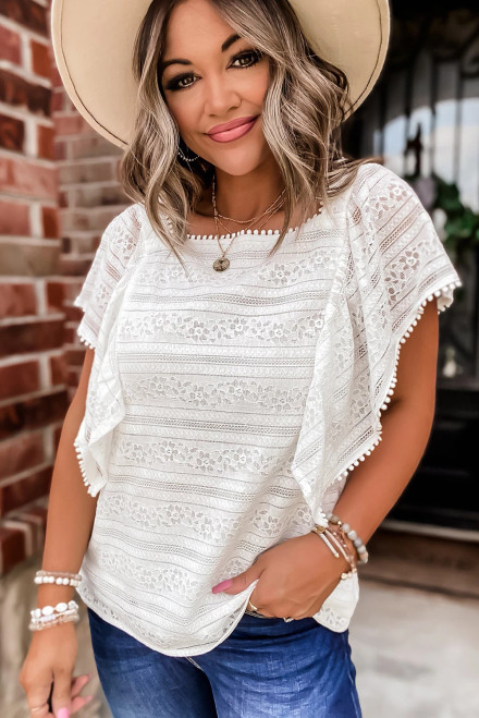 Romance and Ruffles Lace Top - Two colors