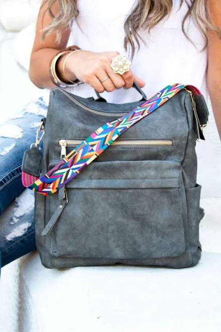 Gray Skies Backpack with Aztec Strap