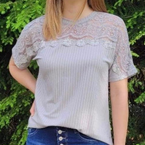 Waves of Floral Lace Top