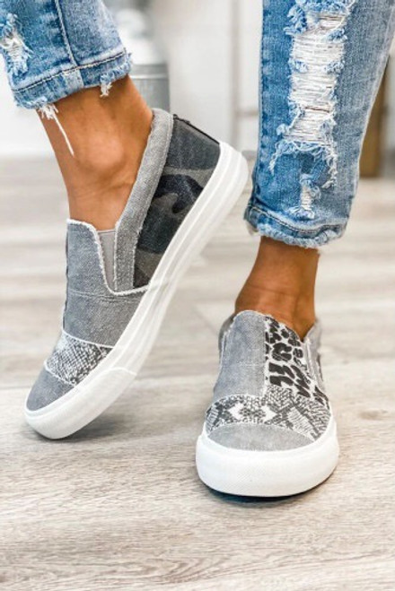 Don't Walk This Way Canvas Shoes