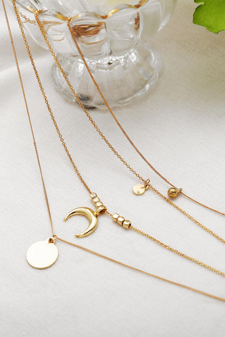 Horn Layered Necklace