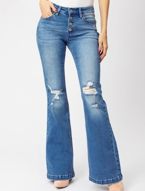 KanCan - Charlotte Mid Rise Flare Jeans