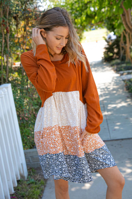 Changing Seasons Ditzy Floral Dress