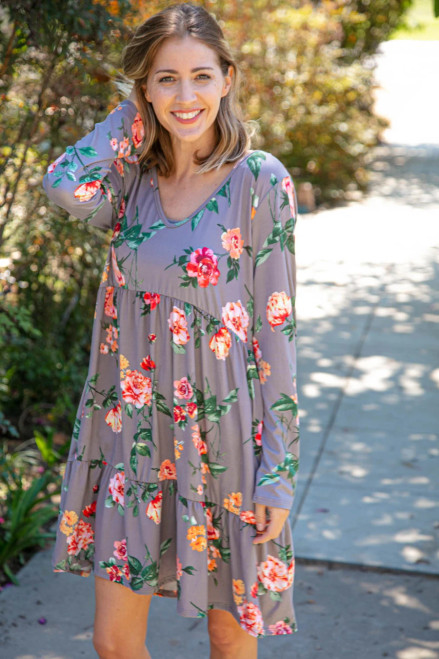 Floral Vision Tiered Dress