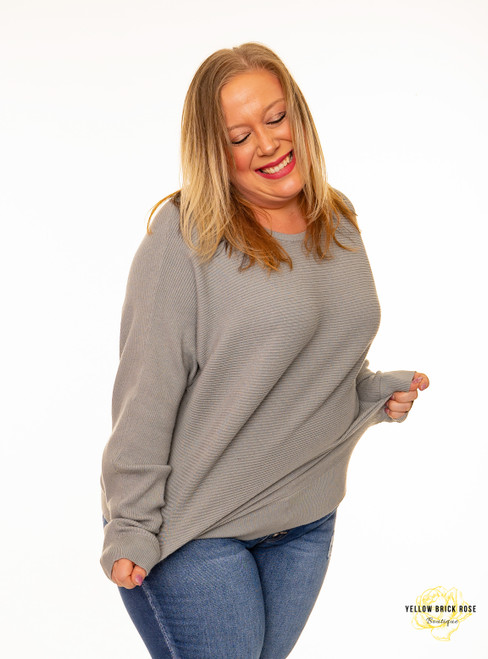 Country Road Dolman Sweater - Dusty Sage