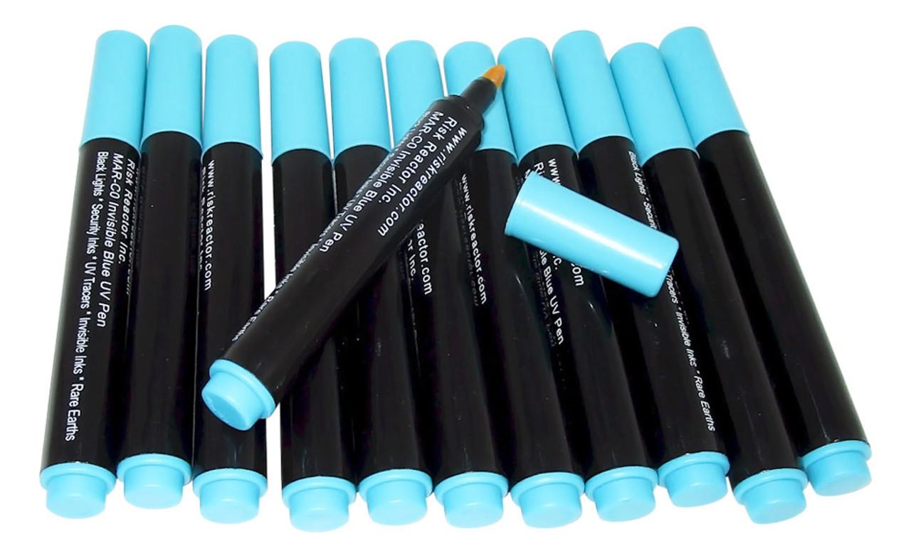 Invisible Ink Pen Black Light Reactive Marker Blue