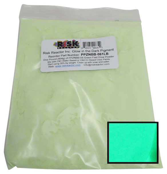 One Pound of Yellow Green Fast Glow in the Dark Powder Additive PPZNBB-061LB