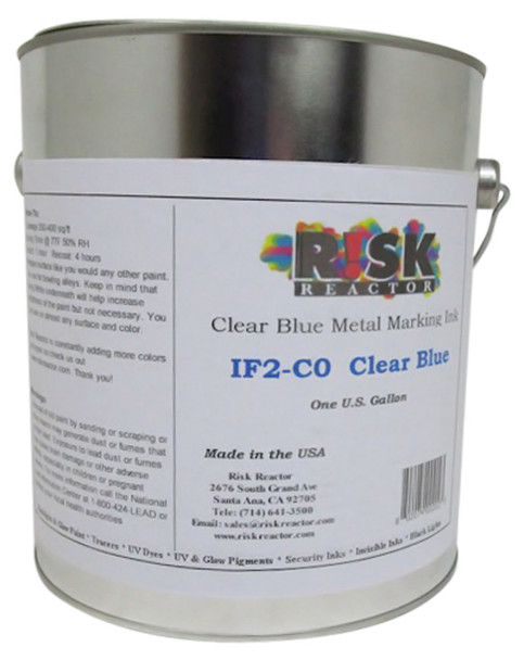IF2-C01GAL Black light blue coatings for cosmic bowling alleys and tool identification UV marking