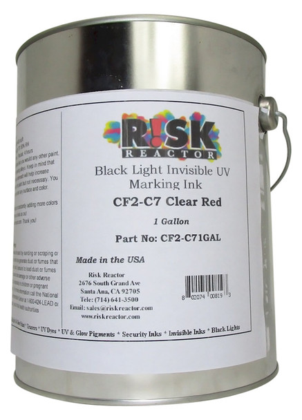 CF2-C71GAL One Gallon Clear Red Black Light Invisible UV Paint