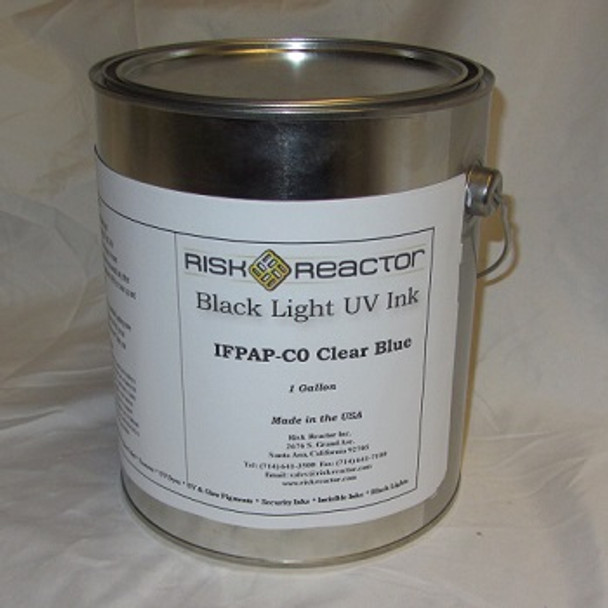 IFPAP-C0GAL gallon of Clear fluorescent UV Blue for porous surfaces.