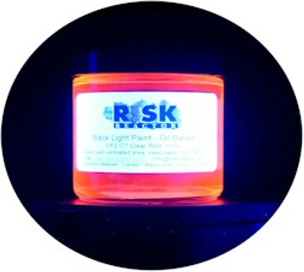 IF2-C7PT Clear UV red coating for just about any surface and glows under 365 NM black light