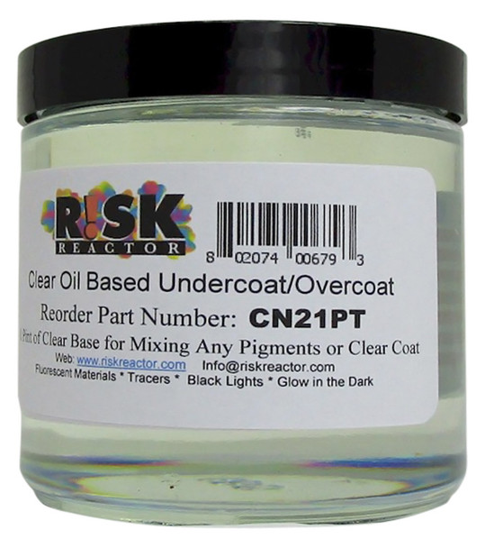 CN21PT is a Pint of Clear Overcoat Oil Paint Base for Mixing Any Pigment or Colorant