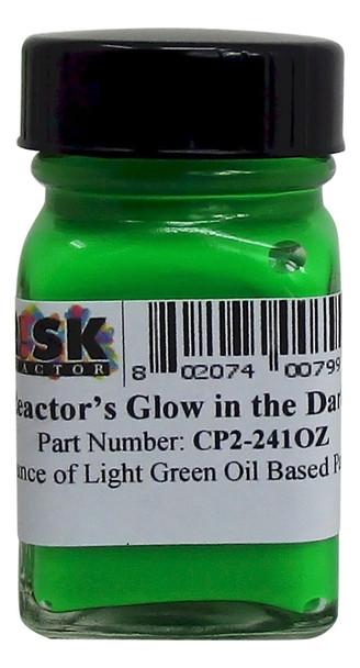 CP2-241OZ Ounce Light Green Glow Oil Luminescent Paint