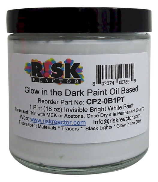 CP2-0B1PT Bright White Glowing Oil Based Paint by Pint