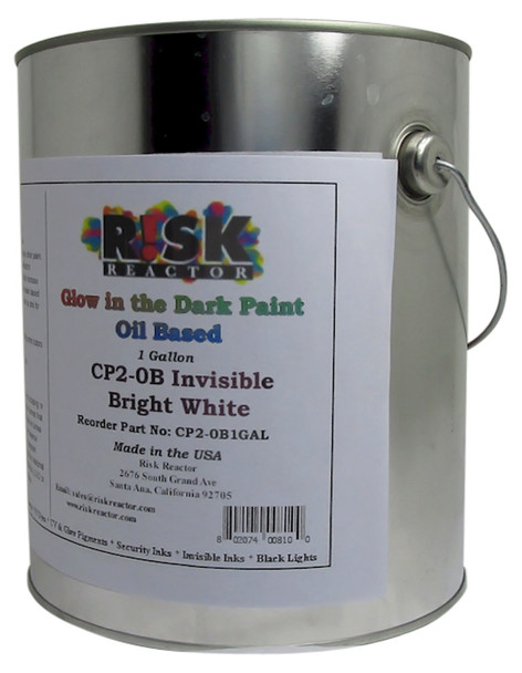 CP2-0B1GAL Bright White Phosphorescent Glow Paint