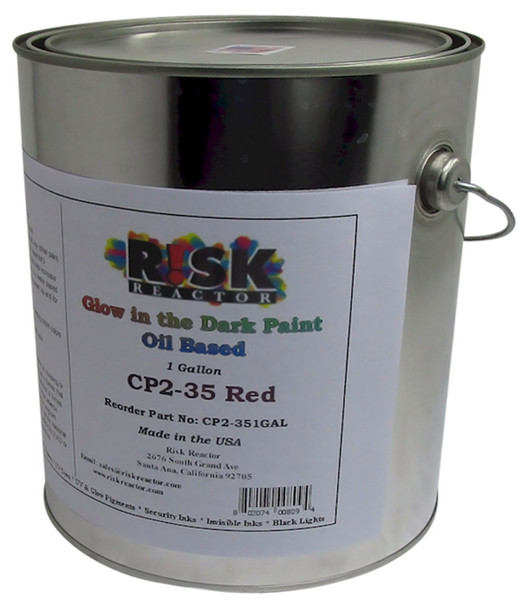 CP2-351GAL Fire Red Gallon Glow in the Dark Oil Based Paint
