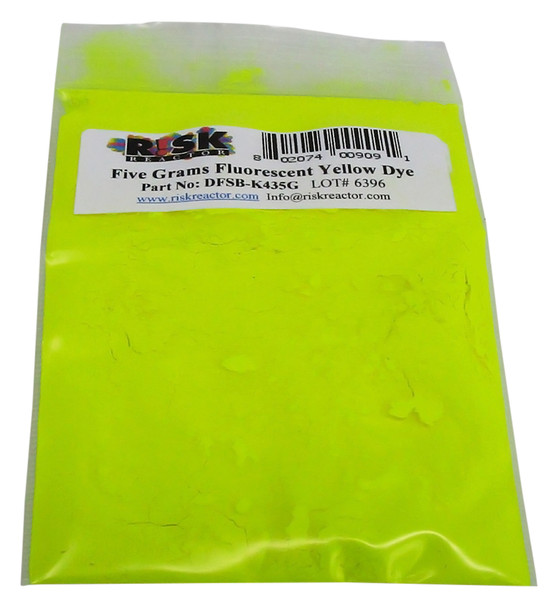 DFSB-K435G Translucent UV reactive yellow dye that glows under black light and soluble in solvents