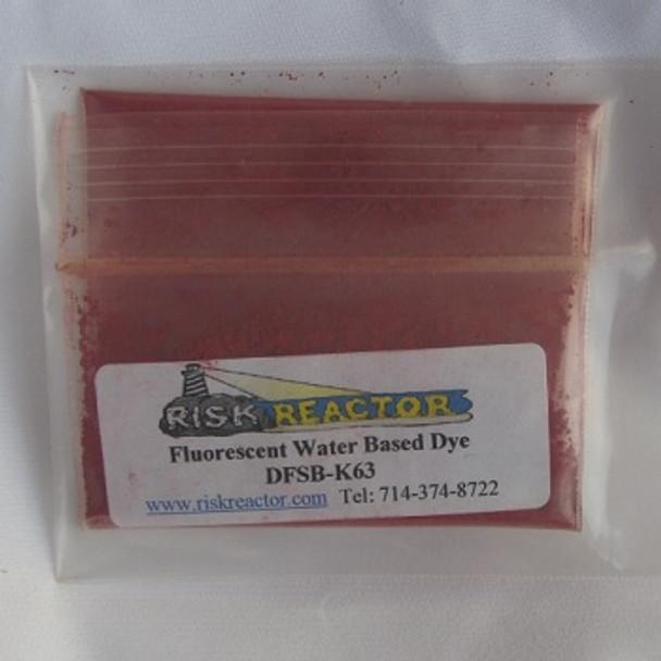 Orange UV dry powder craft Dye.