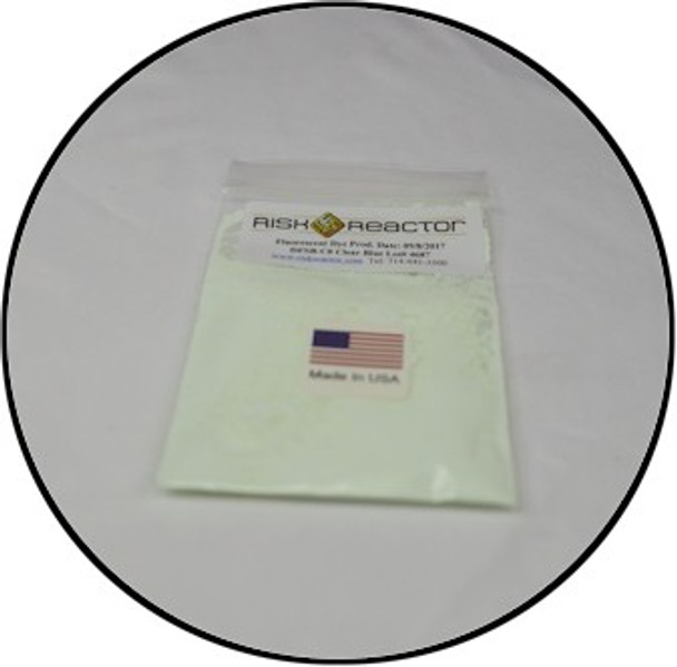 Clear blue optical brightner DFSB-C01LB used in non destructive testing and fluorescent inks.