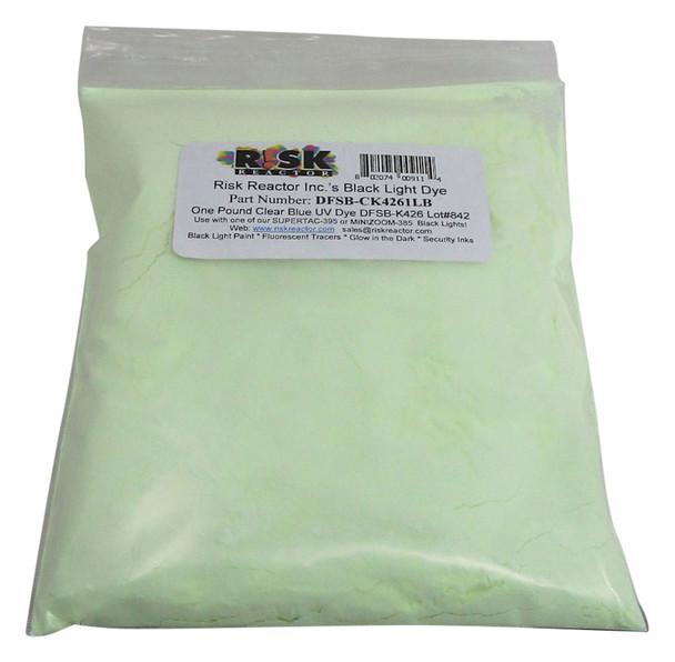 DFSB-K4261LB One pound Clear Blue UV Black Light Solvent Soluble Dye