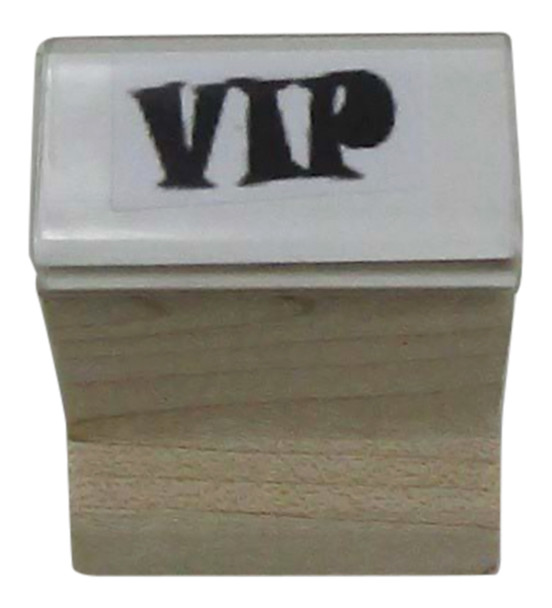 Fluorescent hand stamp VIPSTAMPW using VIP as the image perfect for your bar, club, or event