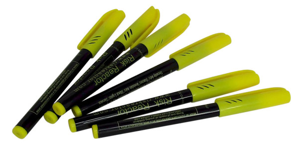MAR-C06 Bag of Six Units Secret UV Invisible Marking Pens for all surfaces