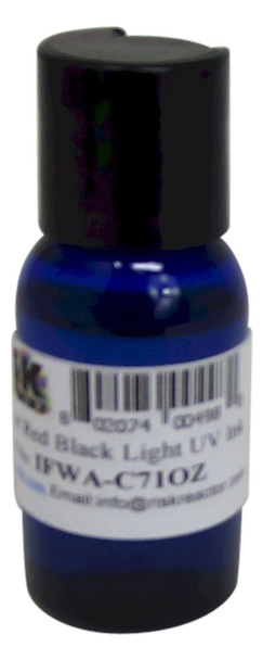 IFWA-C71OZ one ounce Invisible Red Fluorescent Hand Stamp Ink