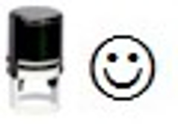 SSMILE1RD UV invisible inking stamp in the image of a smile.