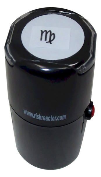 My Round Self Inking Invisible Black Lite Party Stamper SMY1RD
