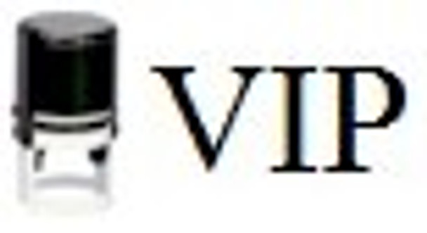 SVIP1RD Self inking UV stamper using the VIP as the image being the most popular black light stamp.