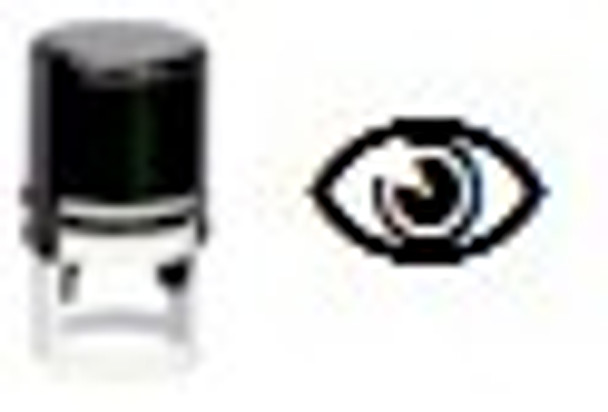 Eye image on self inking stamper SEYE1RD use with any regular or luminous inks