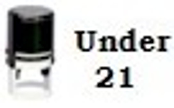 SU211RD black light self inking hand stamper with no fluorescent inks