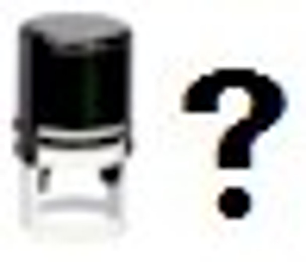 SWHAT1RD Self inking stamper with the question mark we call UV what