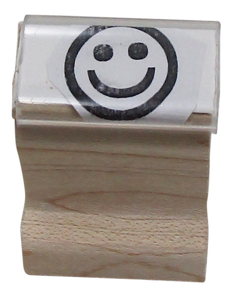 SSMILEW Smile Walnut Handle Rubber Stamp use with PAD-1