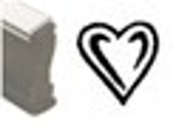 Heart shaped wooden stamp SHEARTW for black light reactive invisible inks