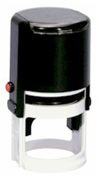 Self inking stamper for use with black light stamping inks or any other non-UV reactive coatings.