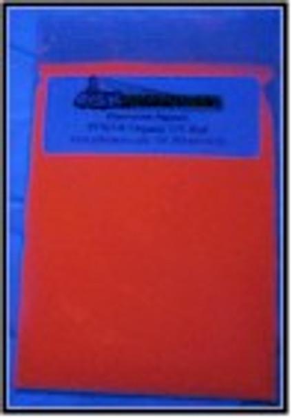 PFSOR1KG is one kilogram Red Shortwave Organic Powder for black light inks and coatings