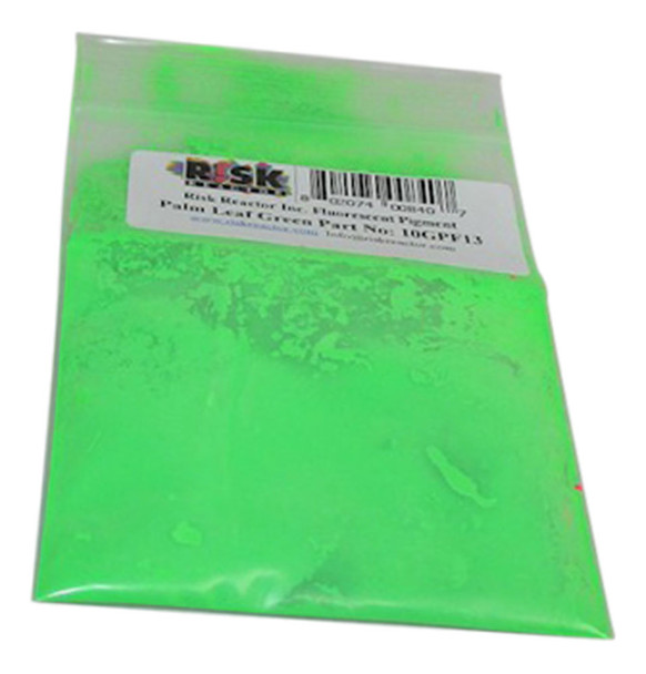 10GPF13 Ten Grams of PF-13 Palm Leaf Green UV Pigments test size