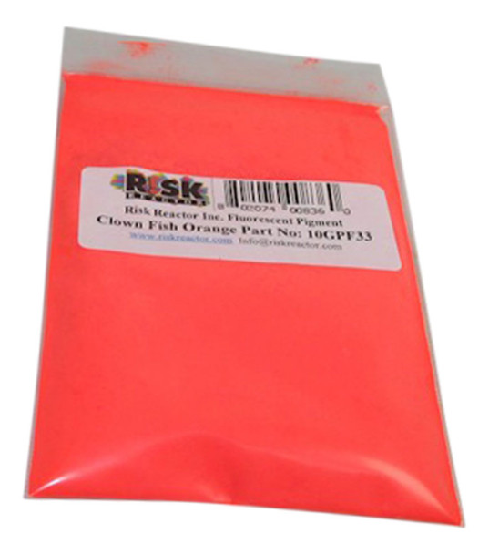 10GPF33 Ten Grams PF-33 Clownfish Orange Black Light Pigment in a test size