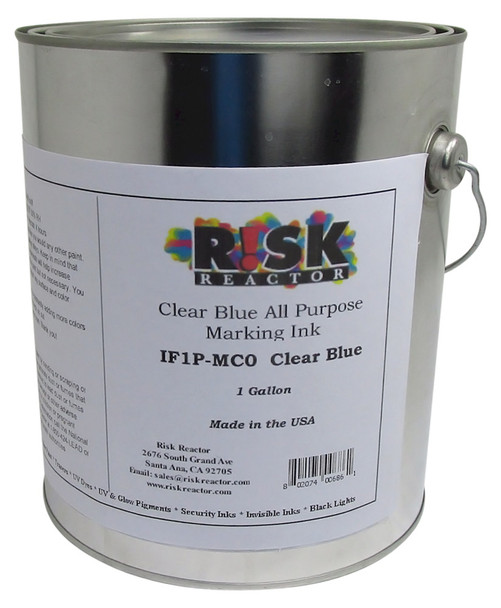 IF1P-MC01GAL Gallon of Clear UV Blue Invisible Fluorescent Solvent Inks
