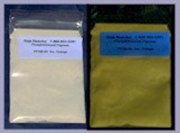 PPSB-03100G Powder that only glows white to orange when in the dark.