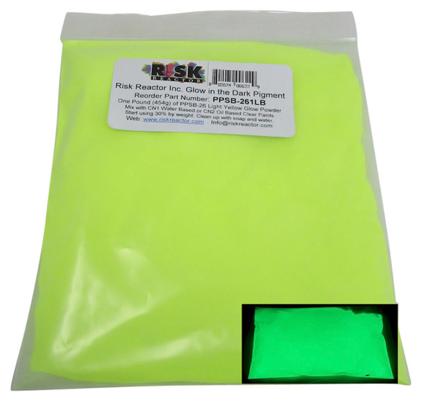 PPSB-261LB is one pound of Light Yellow Phosphorescent Glowing Colors for crafting