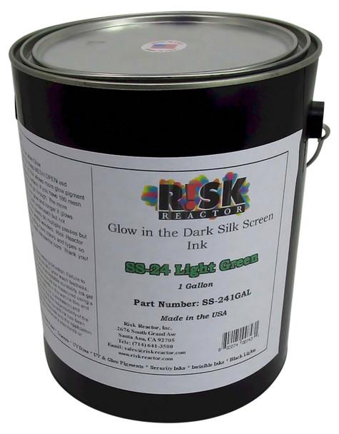SS-241GAL gallon of phosphorescent Light Green Glow in the Dark Screen Inks