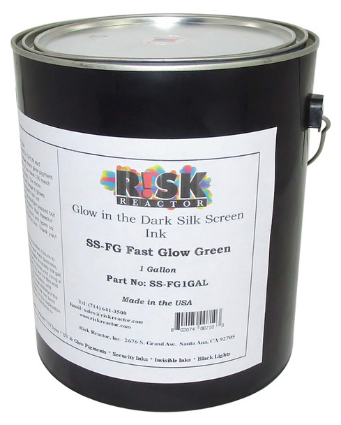 SS-FG1GAL one gallon Fast Glow Green Phosphorescent Screen Inks